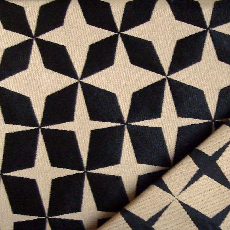Psyche Star (3 coloris) Rideau à oeillets prêt à poser jacquard réversible motif Etoiles - Thevenon
