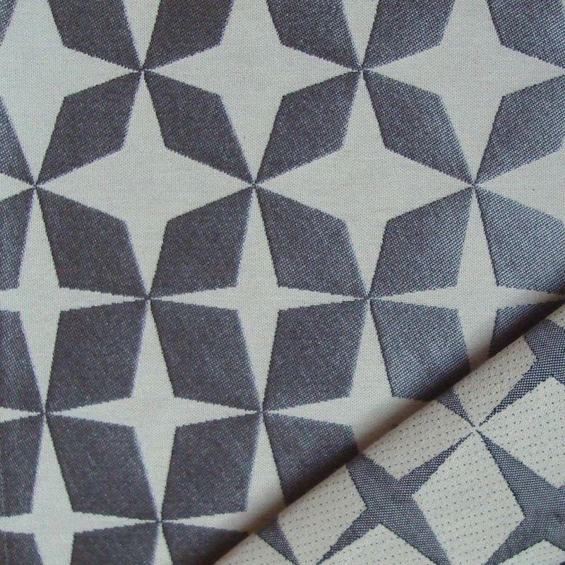 Psyche Star (3 coloris) Tissu ameublement jacquard reversible L.140cm en rouleau motif etoiles Thevenon