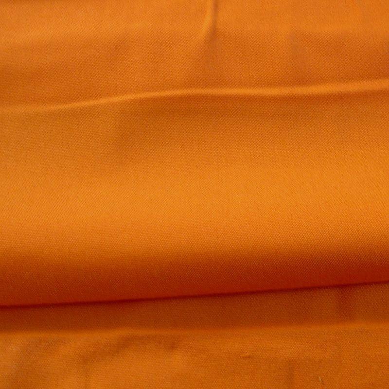 Tissus et toiles exterieures Bache deperlante traitee teflon L.160cm pour nappe unie mandarine A101.93 Le metre
