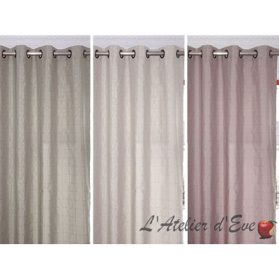 ISIS Rideau to eyelets ready to ask United jacquard curtain Thévenon