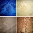 Castiglione fabric upholstery satin fire M1 wide Thévenon