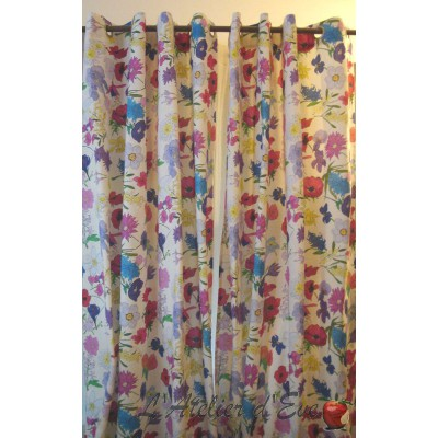 Blooming curtain floral Made in France Thévenon