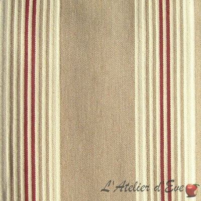 Cove (4 colors) fabric upholstery jacquard stripes special wide seat Thévenon