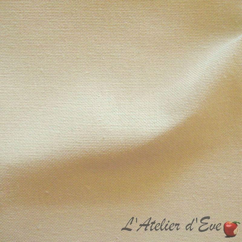 Lady Di sable tissu ameublement grande largeur coton uni Thevenon Paris