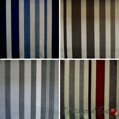 Mikado (4 colors) canvas no fire washable upholstery Trevira CS stripes Thévenon