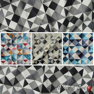 Dancer (4 coloris) Rouleau tissu ameublement jacquard à carreaux L.140cm Thevenon Pièce/Demi-pièce