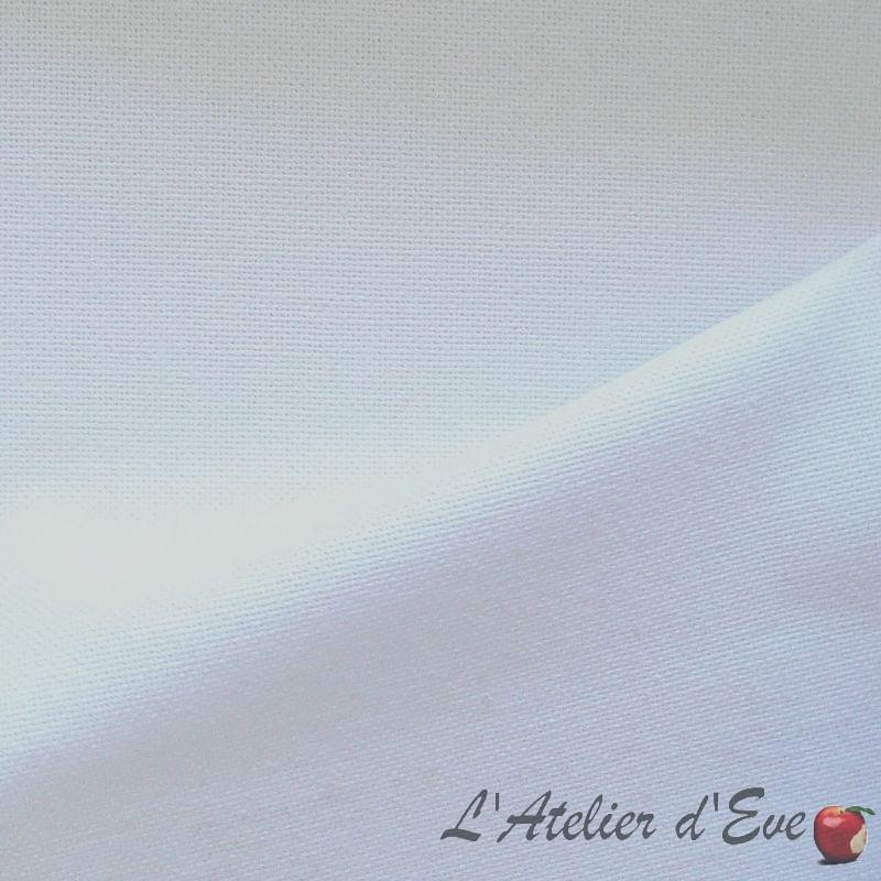 Lady Di blanc rouleau tissu ameublement grande largeur coton uni par Thevenon Paris