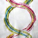 Arty Rouleau toile ameublement brodée multicolore Thevenon La pièce ou demi-pièce