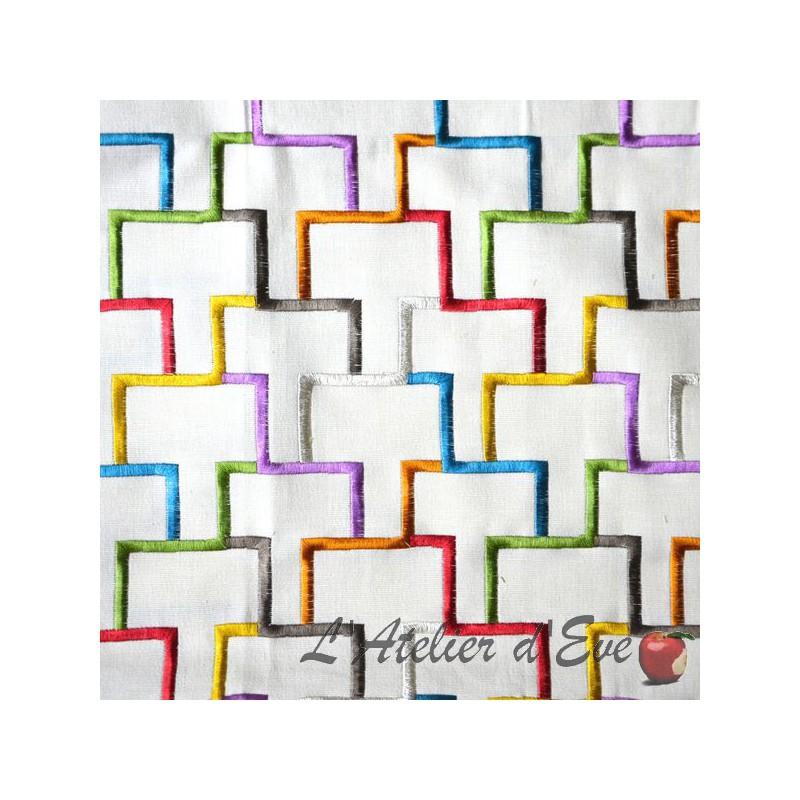 """Tetris"" Discount 30% roll canvas embroidered upholstery"