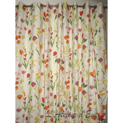 Quintessence curtain Made in France cotton Thévenon