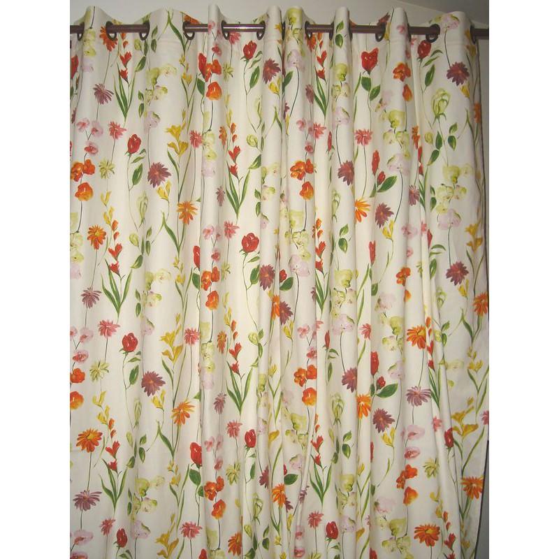 Quintessence 3 coloris Tissu ameublement coton grande largeur fleuri Thevenon