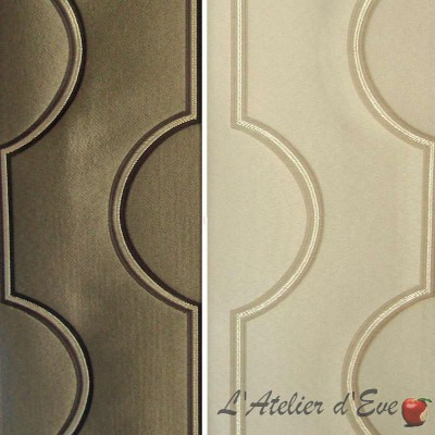 Titane (2 coloris) Rouleau tissu ameublement jacquard brillant Thevenon La pièce ou demi-pièce