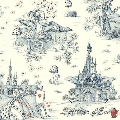 Au pays des Merveilles (2 coloris) Rouleau tissu ameublement toile de jouy grande largeur Siège Thevenon La pièce ou demi-pièce