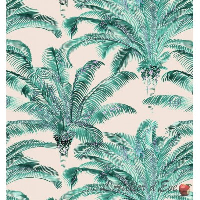 Bahia Rouleau tissu ameublement coton motif palmier Thevenon La pièce ou demi-pièce