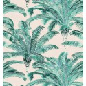 Bahia roll fabric cotton upholstery pattern Palm Thévenon the piece or half room