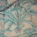 Bahia fabric upholstery jacquard pattern Palm Thévenon