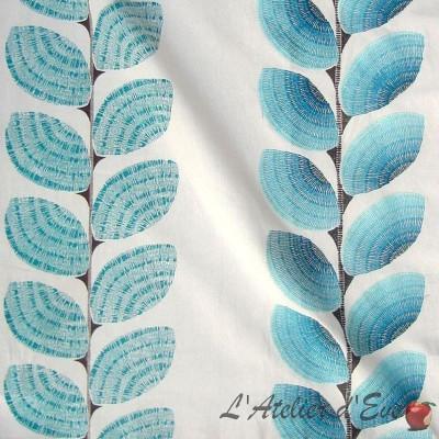 Ephemere Toile ameublement brodée motif coquillages Thevenon