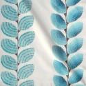 Ephemere Rideau à oeillets prêt à poser toile brodée motif coquillage Thevenon Le Rideau