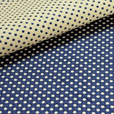 Prince Dots (4 coloris) Rideau à oeillets Made in France jacquard pois réversible Le rideau