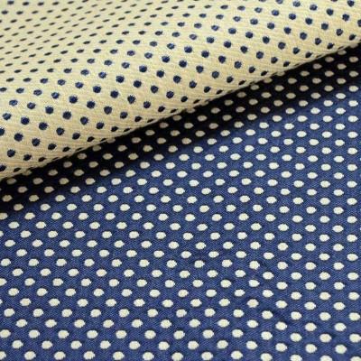 Prince Dots (4 coloris) Rideau a oeillets pret a poser jacquard reversible motif pois Le rideau