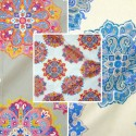 Woodstock (3 colours) cotton furnishing fabric great width for seat Thévenon