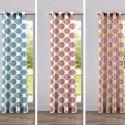 Woodstock (3 coloris) Rideau à oeillets Made in France motif rosace Thevenon Le rideau