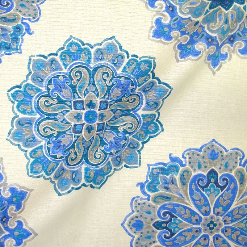 Hippy 3 coloris Tissu ameublement coton grande largeur motif cachemire Thevenon