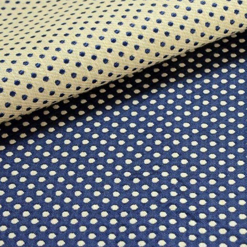 Prince Dots (4 coloris) Achat tissu en gros - Tissu ameublement jacquard reversible L.140cm a pois Thevenon