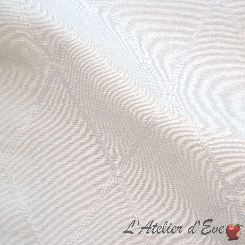 Dandy blanc Rideau à oeillets sur mesure, confection française par L'Atelier d'Eve