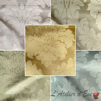 Angora (7 coloris) Rouleau tissu ameublement jacquard uni satiné Thevenon Pièce ou demi-pièce