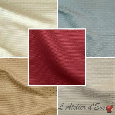 Molitor (8 coloris) Tissu ameublement jacquard motif pois ton sur ton Thevenon
