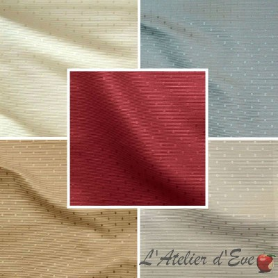 Molitor (8 colours) curtain with eyelets ready to ask jacquard pattern peas tone on your curtain Thévenon