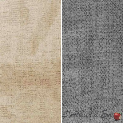 Charlie (2 colors) fabric roll furnishing false jacquard United fancy Thévenon the piece or half room