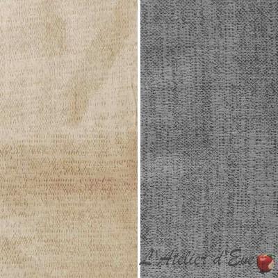 Charlie (2 coloris) Rouleau tissu ameublement jacquard faux uni fantaisie spécial siège Thevenon La pièce ou demi-pièce