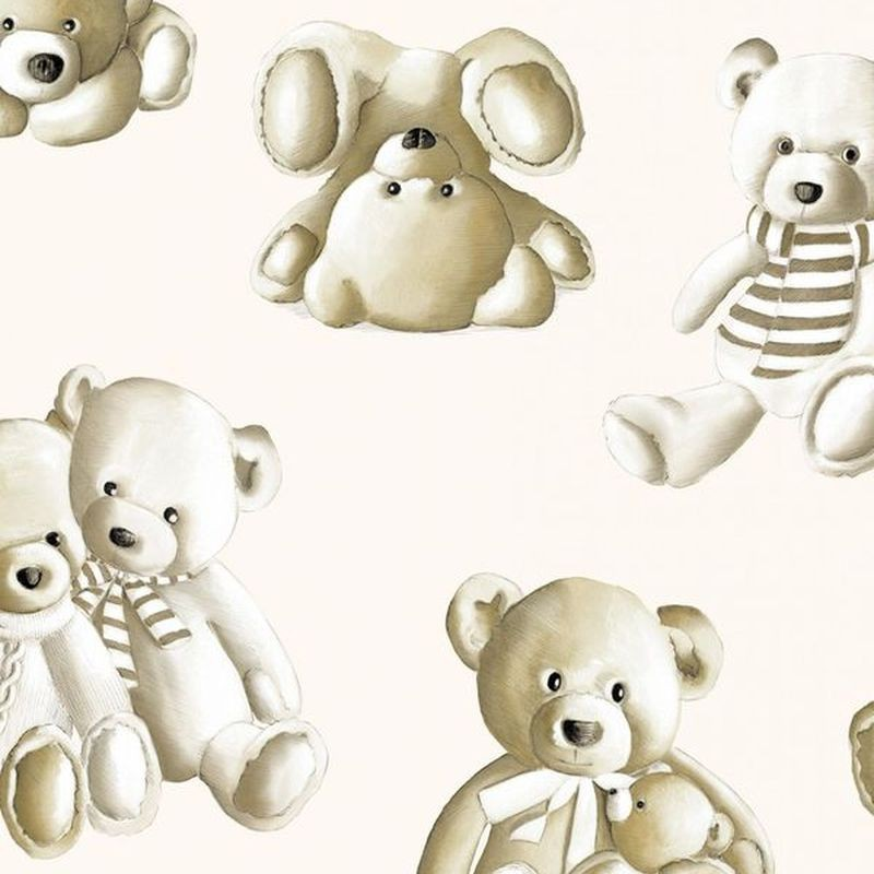 Teddy 2 coloris Tissu ameublement percale coton fond ecru Thevenon 1480401 le metre
