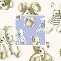 Teddy (2 colours) curtain with eyelets ready to pose for child pattern plush Thévenon the curtain