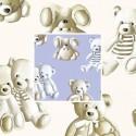 Teddy (2 coloris) Rouleau tissu ameublement percale coton grande largeur motif peluche Thevenon La pièce ou demi-pièce