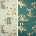 Baby (2 coloris) Rideau à oeillets prêt à poser coton pour enfants Thevenon Le rideau