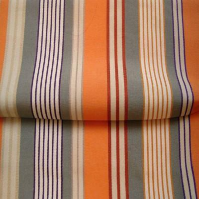 Tissus et toiles exterieures (8 coloris) Bache deperlante traitee teflon L.160cm rayures multiples et unies A101.92 Le metre