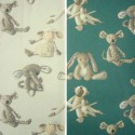 Baby (2 colours) roll cotton furnishing fabric great width for seat Thévenon the piece or half room