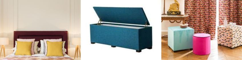 HEAD OF BED TRUNK OTTOMAN