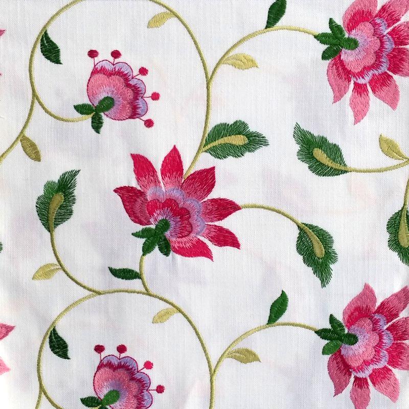 tissu brod tissu ameublement pas cher tissu brod au m tre tissu fleuri rose tissu fleuri. Black Bedroom Furniture Sets. Home Design Ideas