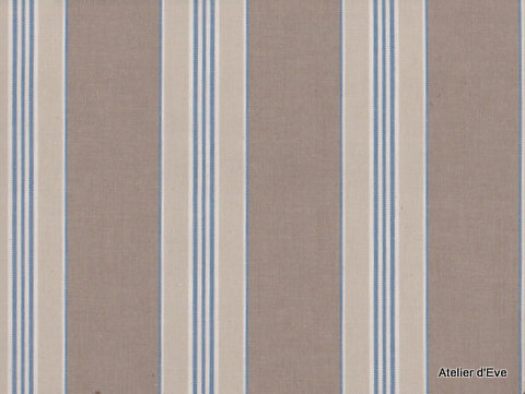 biarritz tissu ameublement 100 coton rayures l140cm bleu tissus mer et plage. Black Bedroom Furniture Sets. Home Design Ideas