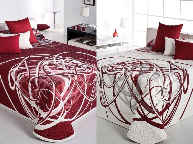 couvre lit rouge reig marti couvre lit pas cher dessus de lit rouge pas cher couvre lit ado. Black Bedroom Furniture Sets. Home Design Ideas