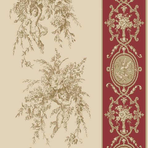 justin rideau a oeillets pret a poser toile de jouy coton piment 638713 le rideau fleurs. Black Bedroom Furniture Sets. Home Design Ideas