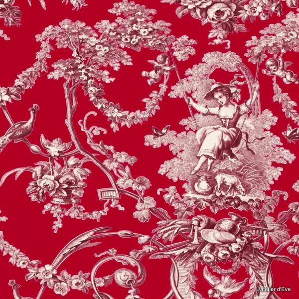 toile de jouy orange toile de jouy coton au mtre coton au mtre toile de jouy pas chre tissus. Black Bedroom Furniture Sets. Home Design Ideas