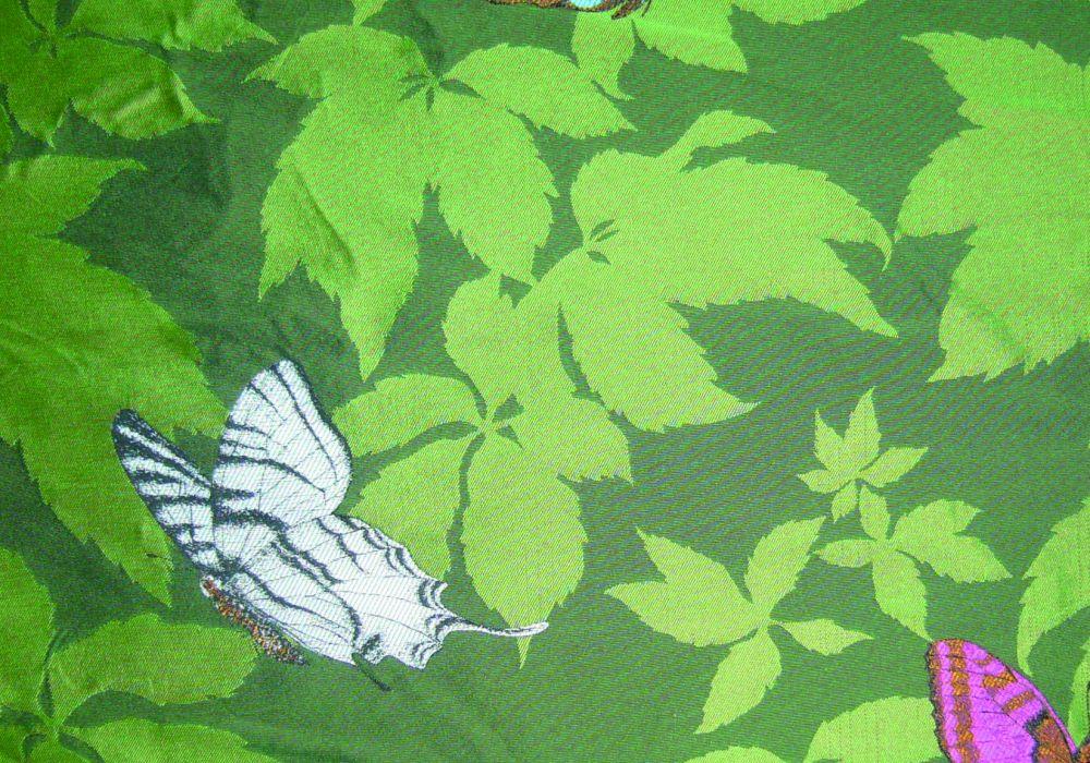 Tissu Ameublement Collection Butterfly Garden Vert