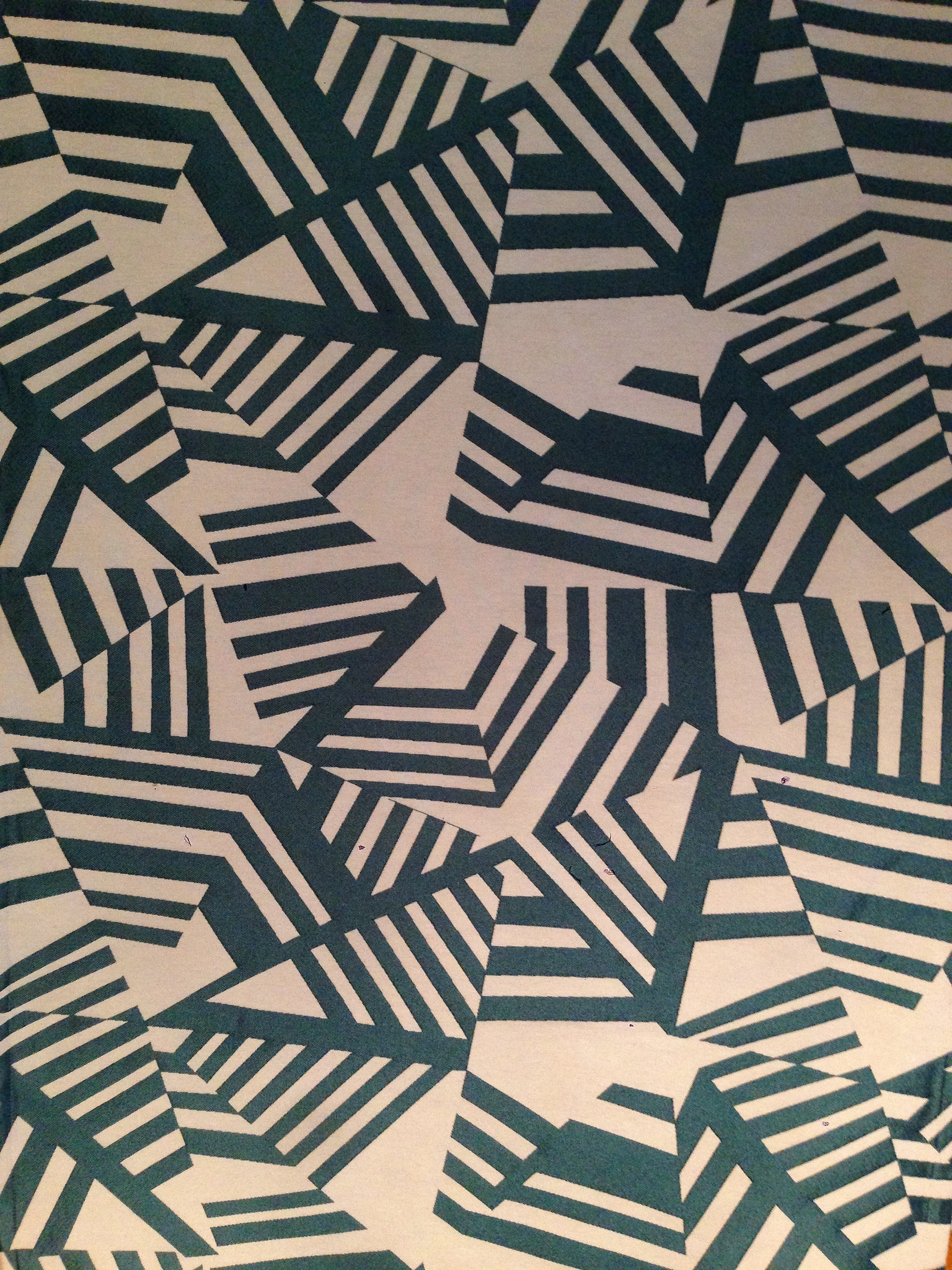 Tissu Géométrique Arakane Bleu
