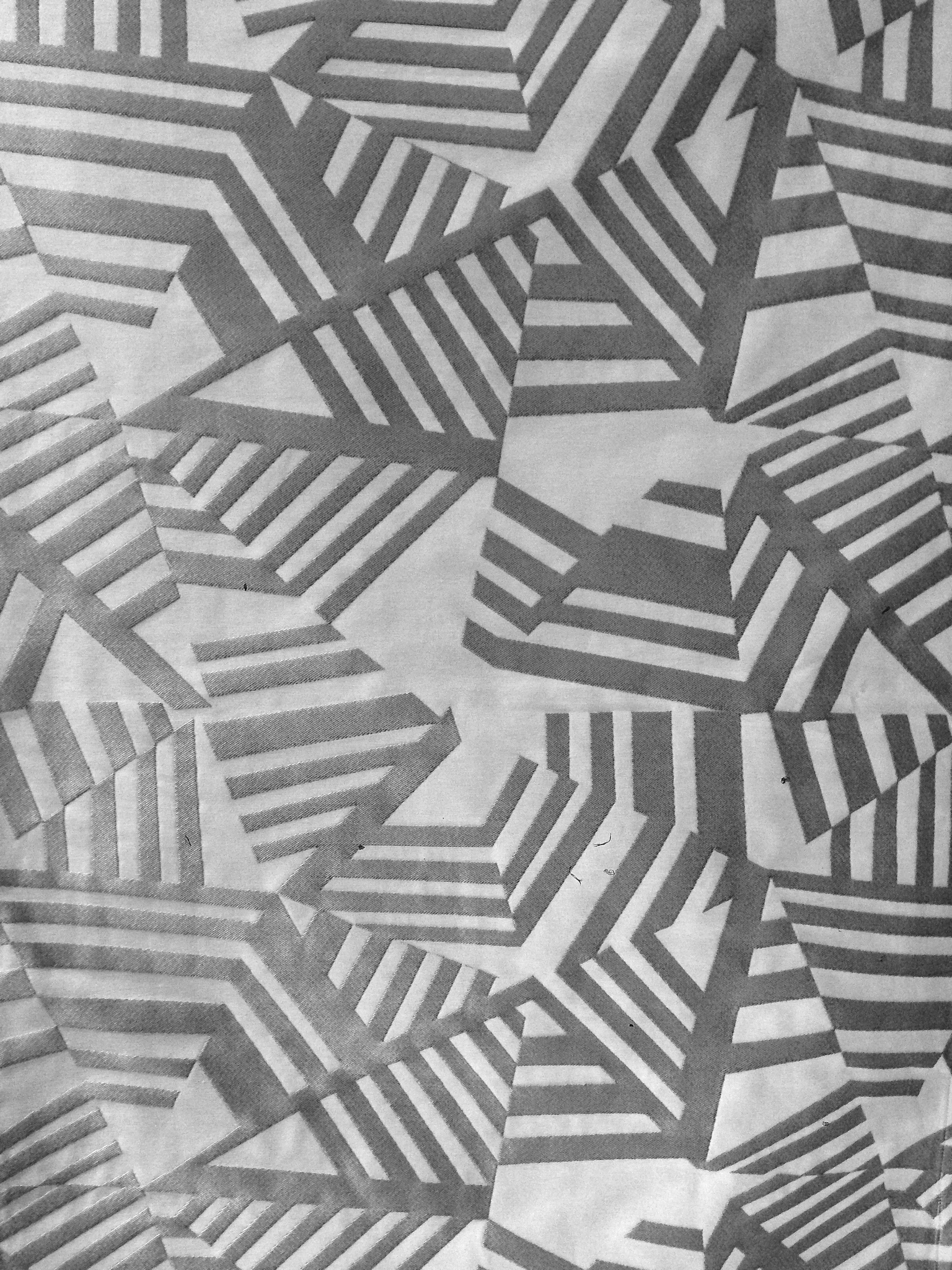 Tissu Géométrique Arakane Gris