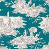 Histoire d'eau gris fond bleu canard 1062638